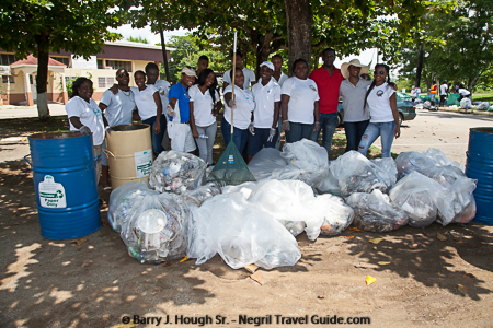 2016 International Coastal Cleanup - Ocean Conservancy at Negril Community Center and Long Bay Beach.