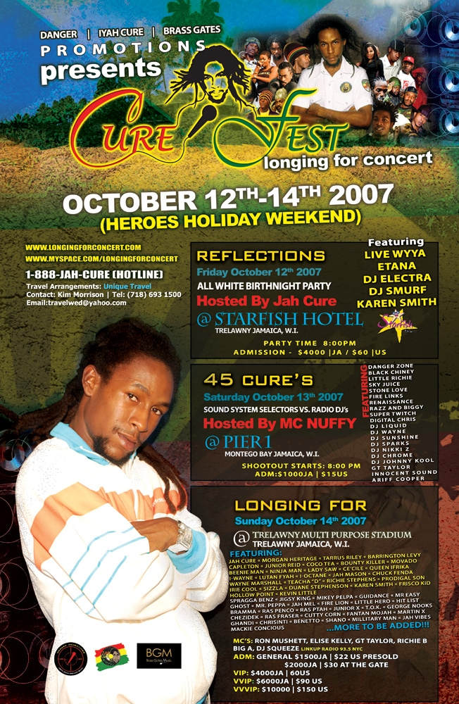 Cure Fest Poster - Cure Fest - October 12th - 14th, 2007 - Negril Travel Guide, Negril Jamaica WI - http://www.negriltravelguide.com - info@negriltravelguide.com...!