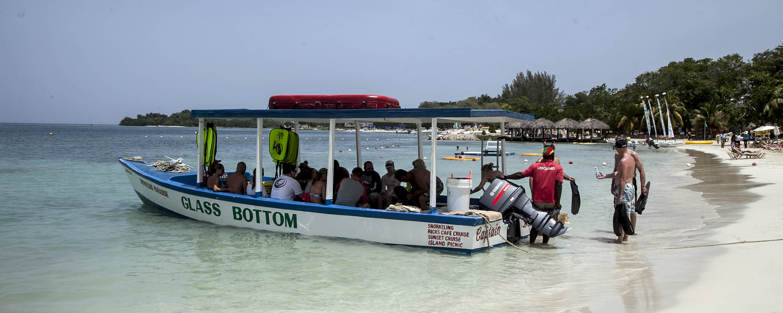 Glass Bottom Boat - Negril Jamaica